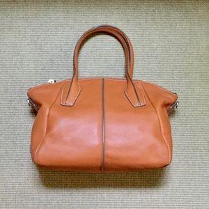 Tod's Orange D-Styling Medium Leather Zip-Bag